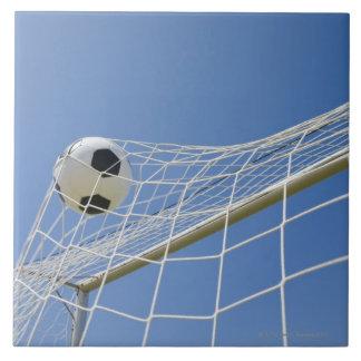 Soccer Ball and Goal 3 Ceramic Tile