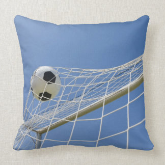 Soccer Ball and Goal 3 Throw Pillow