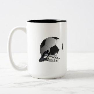 Soccer_Ball,_And_Shoes_Two_Toned_Coffee_Mug Two-Tone Coffee Mug