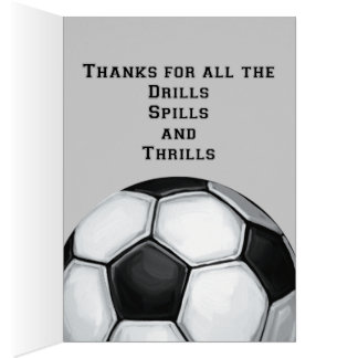 Soccer Ball Art Thank You Coach Card