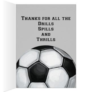 Soccer Ball Art Thank You Coach Greeting Card