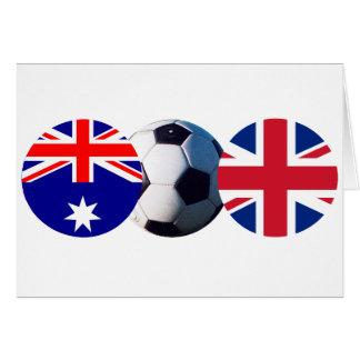 Soccer Ball Australia & UK Flag jGibney The MUSEUM Greeting Card