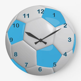 Soccer Ball | Baby Blue Wallclocks