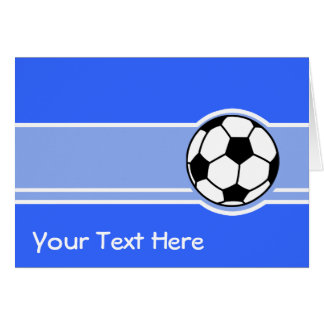 Soccer Ball; Blue Greeting Card