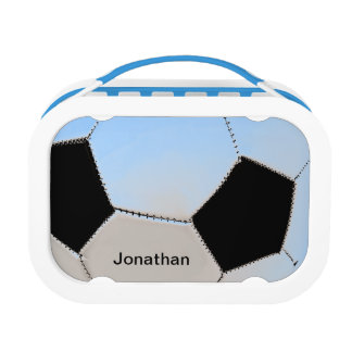 Soccer ball - blue tones lunch box