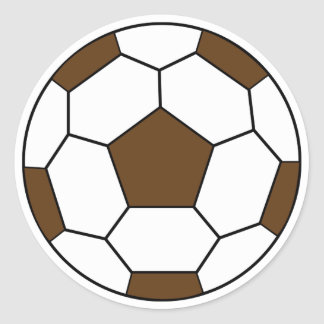 Soccer Ball Brown Sticker