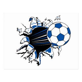 Soccer Ball Burst Postcard