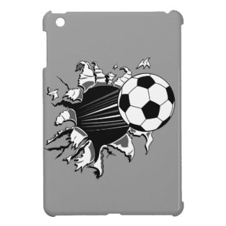 Soccer Ball Busting Out iPad Mini Case