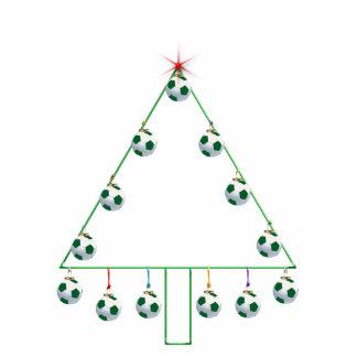 Soccer Ball Christmas Tree Ornament Photo Sculpture Decoration