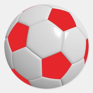 Soccer Ball Classic Round Sticker