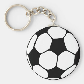 Soccer Ball  Close-up Basic Round Button Key Ring