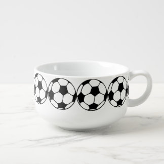 Soccer Ball  Close-up Soup Mug