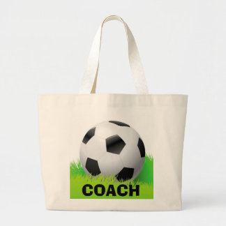 Soccer Ball & Coach Design tote bag