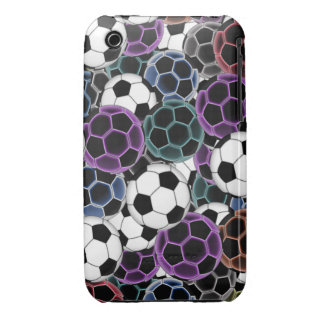 Soccer Ball Collage Case-Mate iPhone 3 Cases