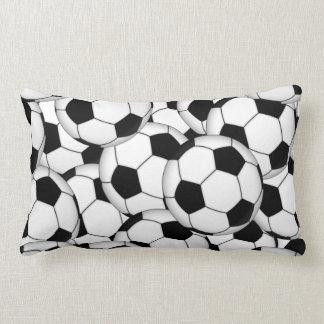 Soccer Ball Collage Throw Cushions