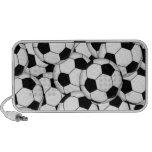 Soccer Ball Collage Laptop Speaker