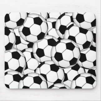 Soccer Ball Collage Mousepad