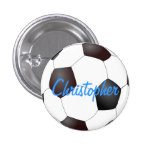 Soccer Ball - Customisable 3 Cm Round Badge