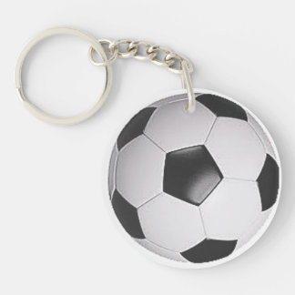 """""""Soccer Ball"""" design gifts and products Double-Sided Round Acrylic Key Ring"""