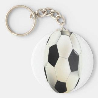 Soccer ball design keychains
