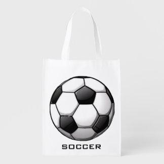 Soccer Ball Design Reusable Tote