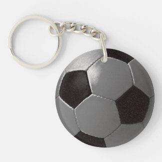 Soccer Ball Double-Sided Round Acrylic Key Ring