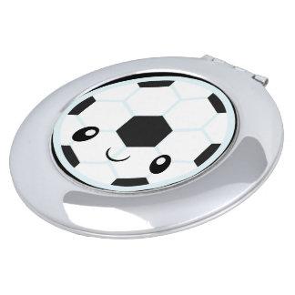Soccer Ball Emoji Makeup Mirrors