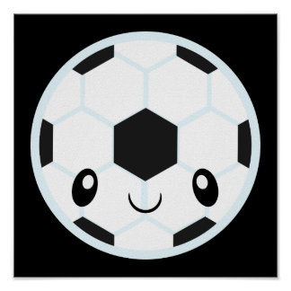 Soccer Ball Emoji Poster