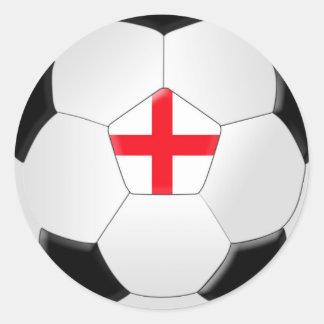 Soccer Ball – England Round Sticker