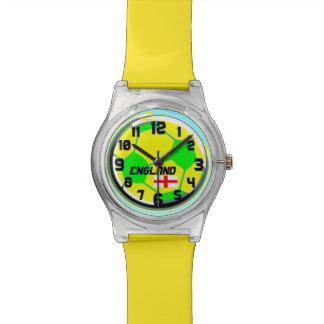 Soccer Ball English flag customizable name England Wrist Watches