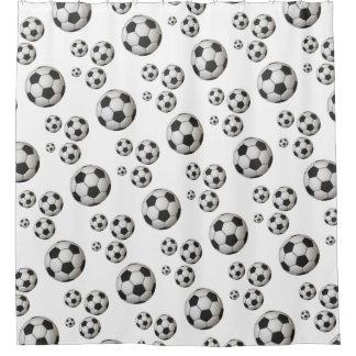 Soccer Ball (Football) Bathroom Shower Curtain