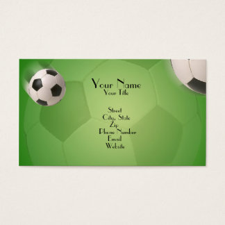 Soccer Ball Football Goal - Business Card