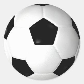 Soccer Ball ( football ) Round Sticker
