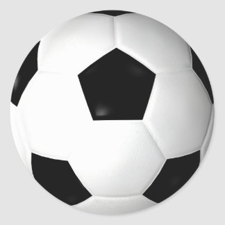 Soccer Ball ( football ) Round Stickers