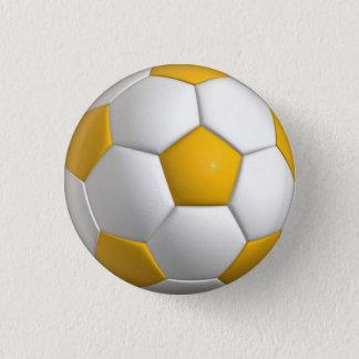 Soccer ball (futbol) pin / button - yellow gold