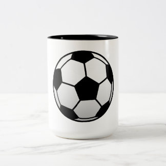 Soccer Ball Futbol products Two-Tone Coffee Mug