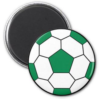 Soccer Ball Green Magnet