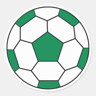 Soccer Ball Green Sticker