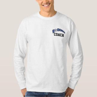 Soccer Ball In Dark Blue T-Shirt