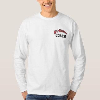 Soccer Ball In Dark Red T-Shirt