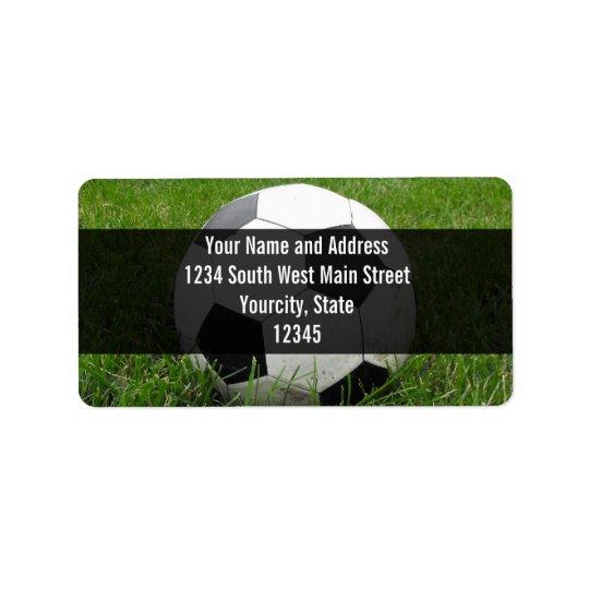 Soccer Ball in Grass Address Label