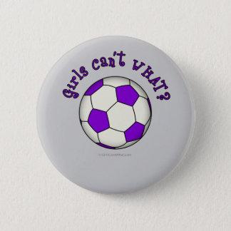 Soccer Ball in Purple 6 Cm Round Badge