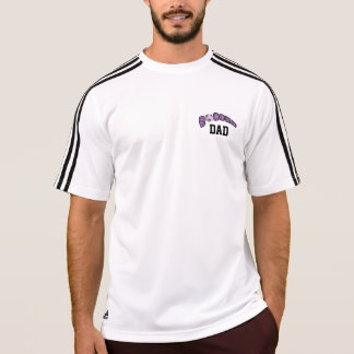 Soccer Ball In Purple and White T-Shirt