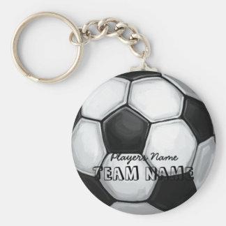 Soccer Ball Basic Round Button Key Ring