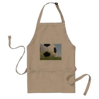 Soccer ball on grass. standard apron