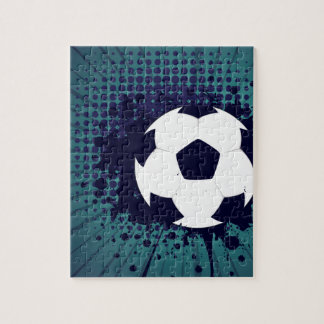 Soccer Ball on Rays Background 2 Jigsaw Puzzle