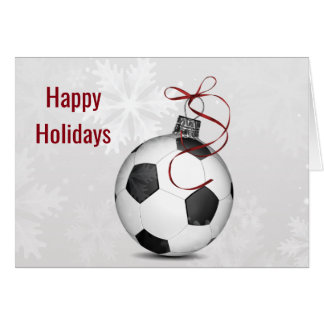 soccer ball ornament Holiday Greetings Card