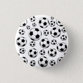 Soccer Ball Pattern 3 Cm Round Badge