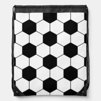 Soccer Ball Pattern Drawstring Bag