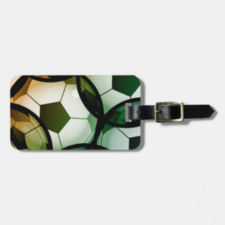 Soccer Ball Pattern Luggage Tag